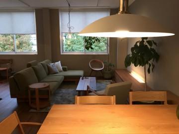 LOWVE、ミヤモト家具、無垢材、ソファ、照明