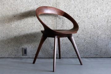 富山、家具、無垢、ミヤモト家具、ラウンジチェア、回転椅子