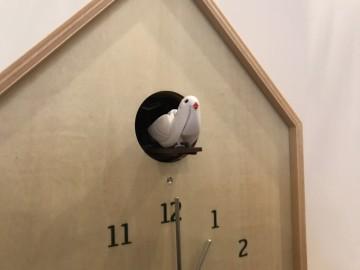富山 雑貨 木製 木の時計 ハト時計