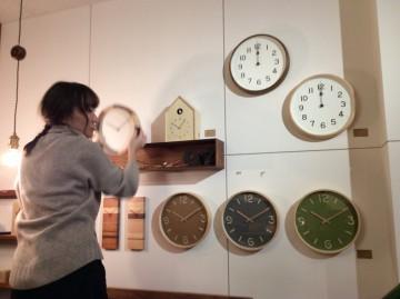 富山 雑貨 木製 木の時計